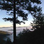 The view from Shelter Cove Road, 2200 feet, ten minutes out on my last morning.