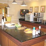 View of breakfast serving area