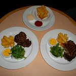 Room Service Rib Eye and Hand Cut Fries