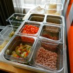 omelet station -onions,peppers,bacon,spinach,tomato,sausage,cheese, made to order, eggs or white