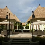 View from restaurant - Lagoon villa (2 storey) with common shared pool.