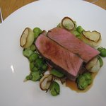 Melt in the mouth lamb with broad beans