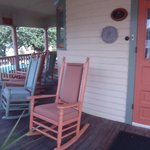 Porch with comfortable rockers