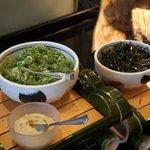 tout pour agrémenter la soupe miso