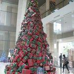 Giant Christmas Tree on Lobby
