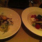 Not a very good photo of entrees
