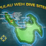 map of dive spot in Weh Island