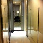 Passage between sitting room and bedroom. Has a sliding door