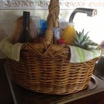 Champagne breakfast hamper - beautiful selection of local fresh produce