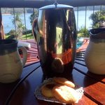 afternoon tea...handmade pottery dinnerware..very impressive