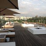 La splendida terrazza piscina