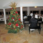 Christmas music while we dined