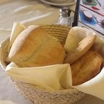 beautiful basquet with artesanal bread, absolutly delightful