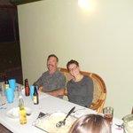 Dave and Stephanie Ayoob at Christmas Dinner