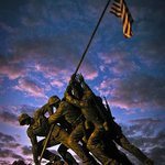 Iwo Jima Memorial at dusk (© Copyright 2012 Stefanie Payne)