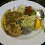 Grilled Red Snapper with Flavored Rice