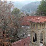 View of Church and Downtown Eureka Springs from Crescent Hotel