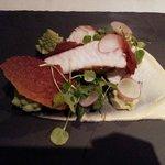 Pan Roast Monkfish, Cauliflower Two Ways & Parma Ham Crisp