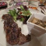 faux steak with mushrooms ... scrummy!