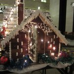 Lobby Christmas time gingerbread house