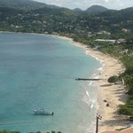grand anse beach, the view from our balcony.