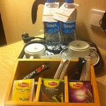 complimentary coffee, tea and bottled water