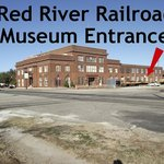 Enter museum on trackside of the Katy Depot