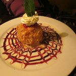 Walnut and coconut encrusted fried ice cream...yummy!