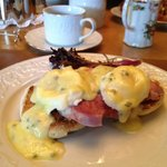 Amazing Eggs Benedict breakfast.
