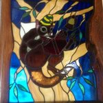 stained glass window in possums