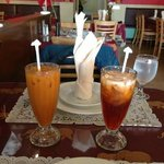 Thai tea on our 25th anniversary