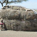 Massai home at the cultural boma