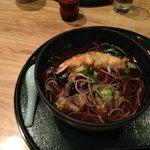 Hot tempura soba