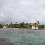 View of the caye from the water