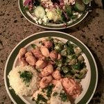 Greek Salad & Chicken Kebabs