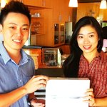 Winner of IPAD2 at Noodle Station eGate lucky draw
