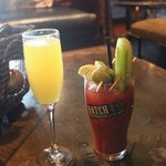 Mimosa and Bloody Mary - yum  :)