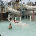 slides on kids play area
