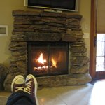 Wonderful gas fireplace