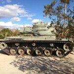 Patton Memorial Museum outside tank