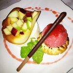 Pana cota with Fresh Fruits