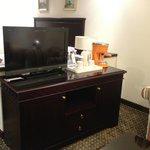 TV and the mini bar