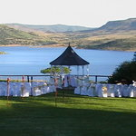 Gazebo for weddings overlooking Wagendrift dam.