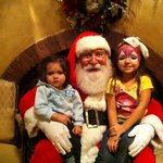 Picture with Santa in Hotel Lobby