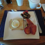 Our first English breakfast at the Bay Atlantic