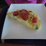 My beautifully presented omlette on our first morning