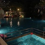 Lounge pool at night