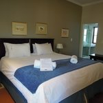 Our large, comfortable bed-imagine this sight greeting you after a hot trek across the desert!