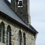 The chime-bell atop atop the roof of Church