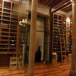 Extensive wine cellar